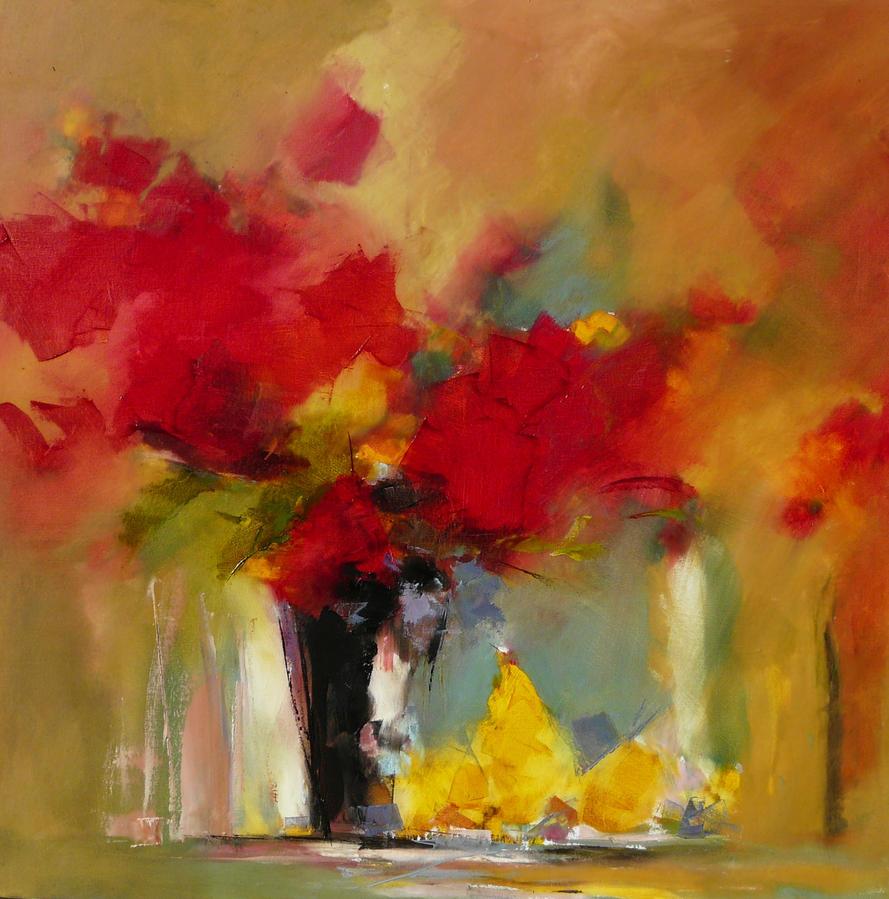 Bouquet et Fruits d'aout 80 x 80 by Malahicha