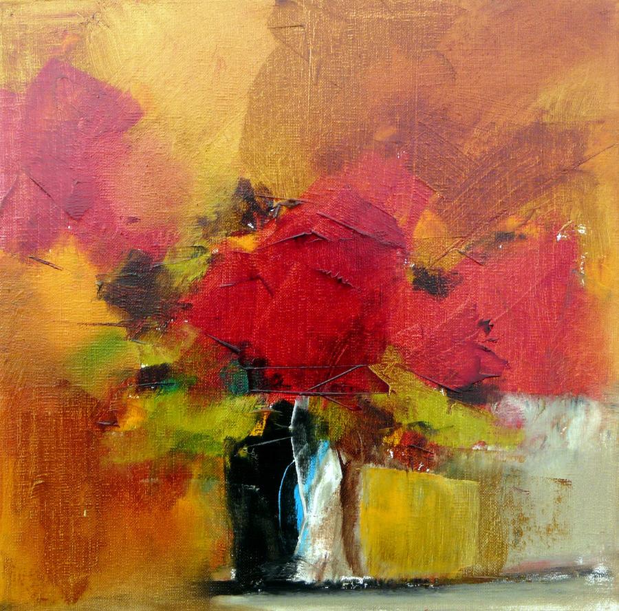 Petit bouquet 3 de septembre 30 x 30 by Malahicha
