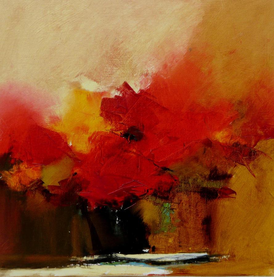 Petit bouquet 4 de septembre 40 x 40 by Malahicha