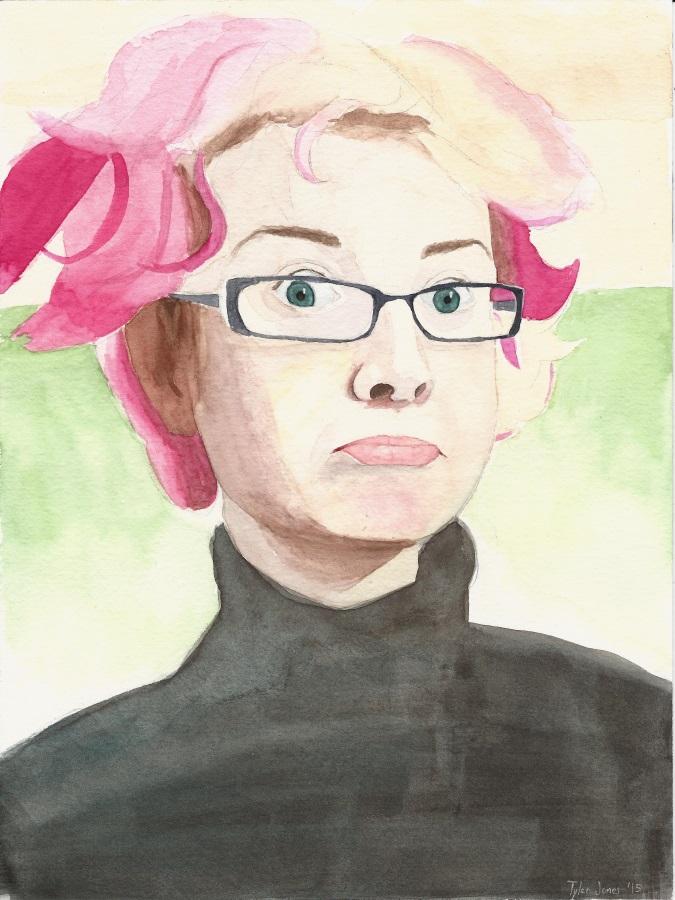 Modmad watercolor portrait by JusticeDude