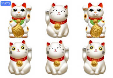 maneki neko cat icons by damao50