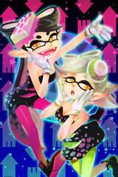 Squid Sisters by ravefirell