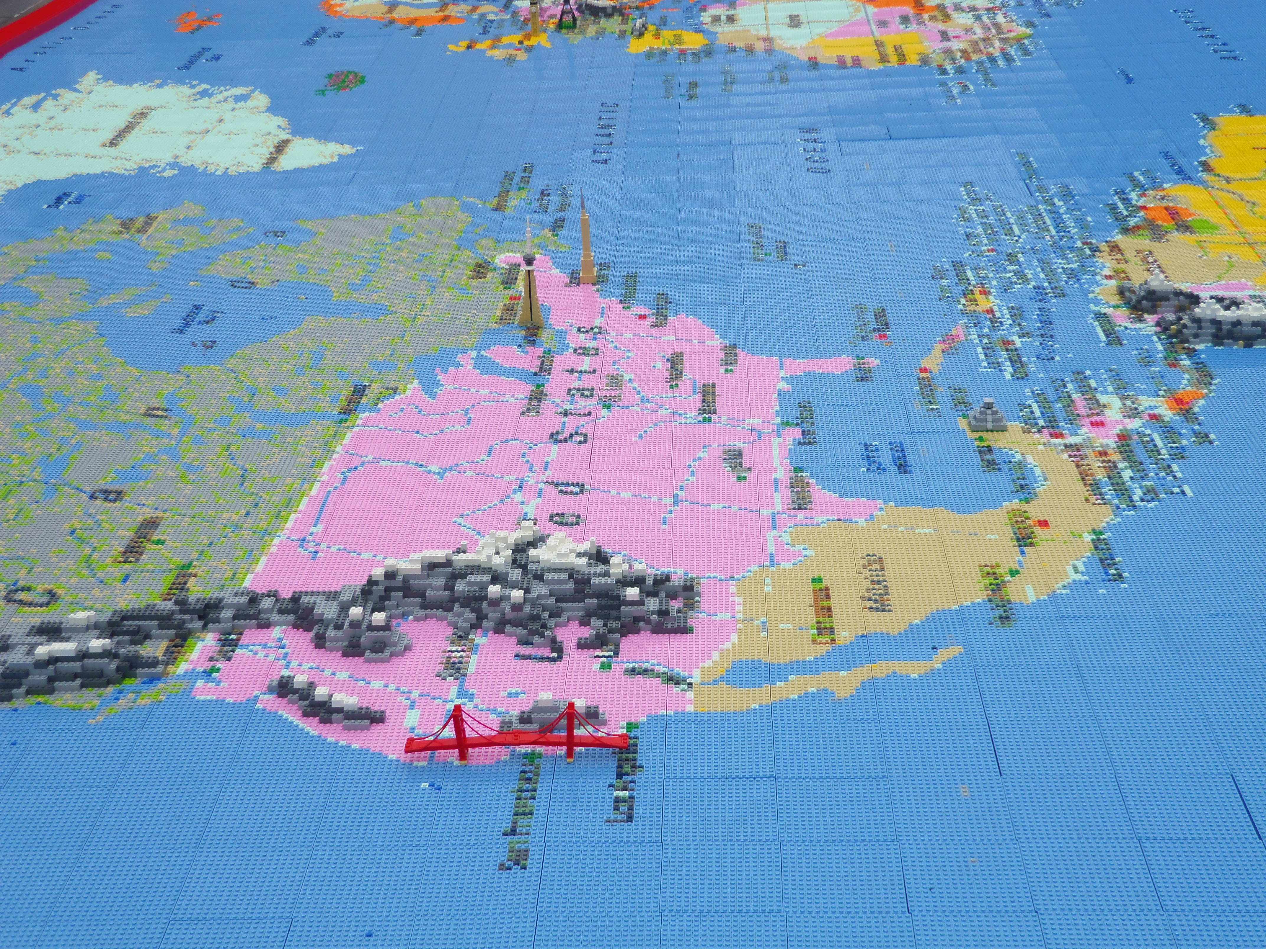 Giant World Map made out of Lego in London