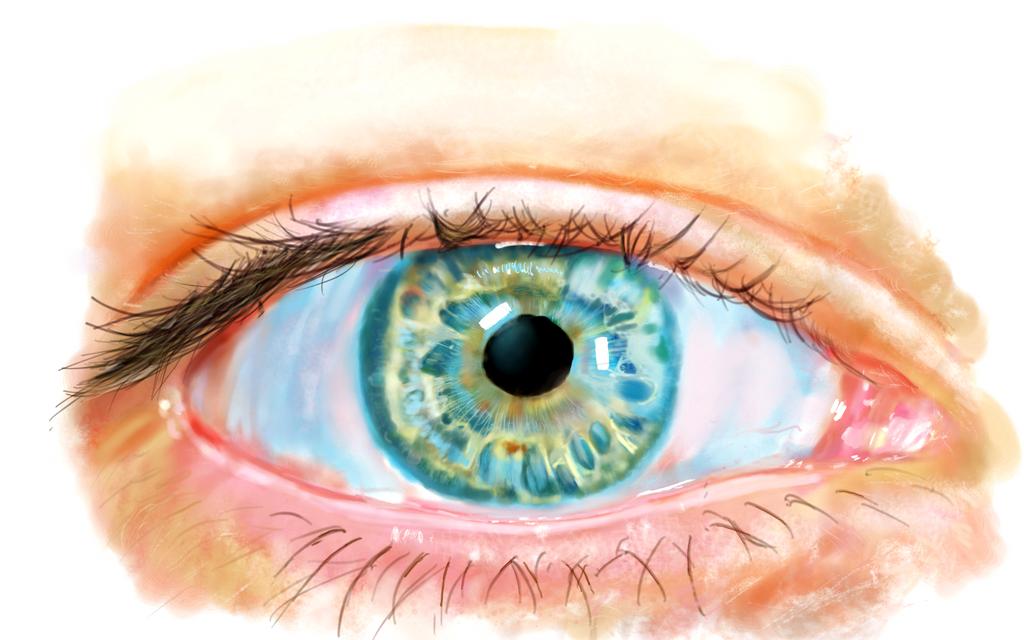 Digital eye painting by StevenARTify