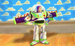 Buzz Lightyear also including painted background