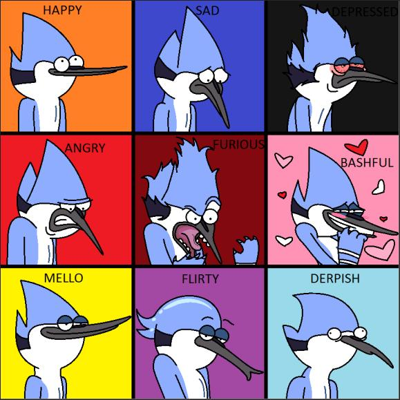 Mordecai's Expressions by addababe