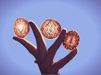 Magic Coins -kickstarter art by ThornandPetal