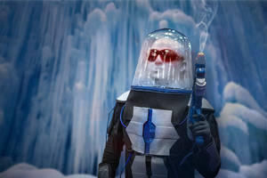 Mr.Freeze at home by ruggala08