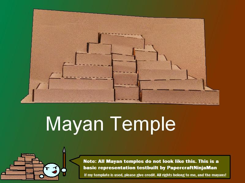 Mayan temple pop up card build by papercraftninjaman on for How to make paper temple