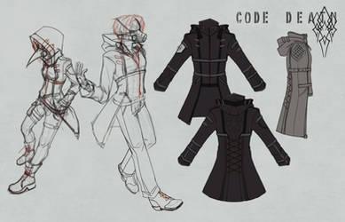 CD   Hooded Jacket Uniform Sketches