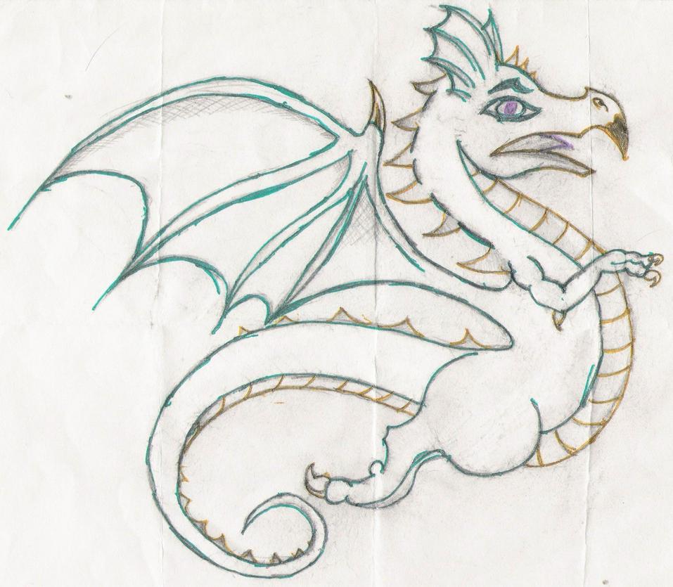 Cartoon Dragon Drawings