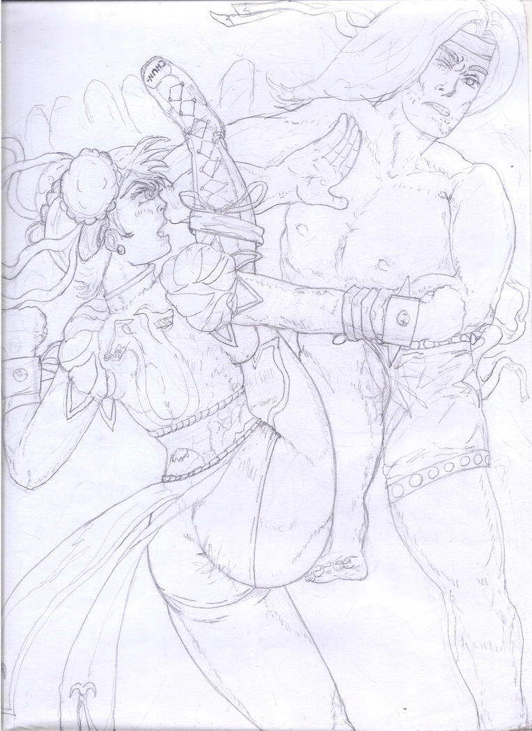Chun-Li vs. Shang-Chi(Capcom vs.Marvel)skt.II by Narked