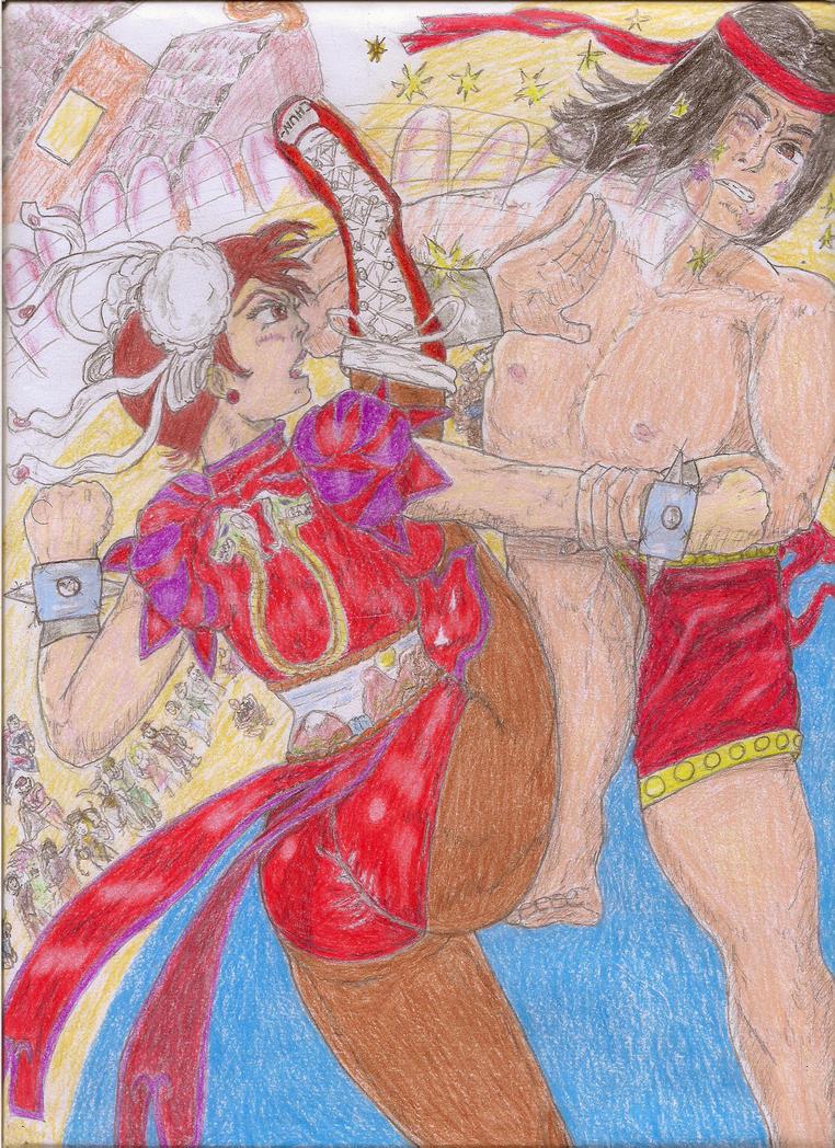 Chun-Li vs. Shang-Chi!  (Capcom vs.Marvel) by Narked