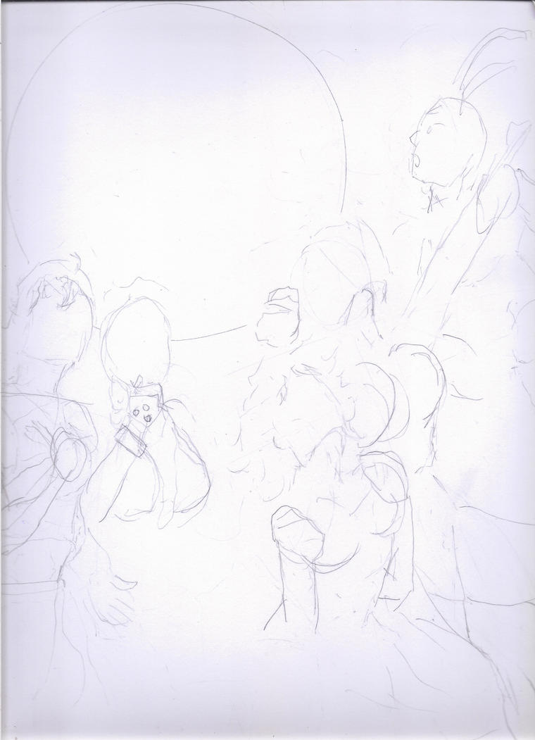 GANG OF FIVE!  (Basic sketch#1) by Narked