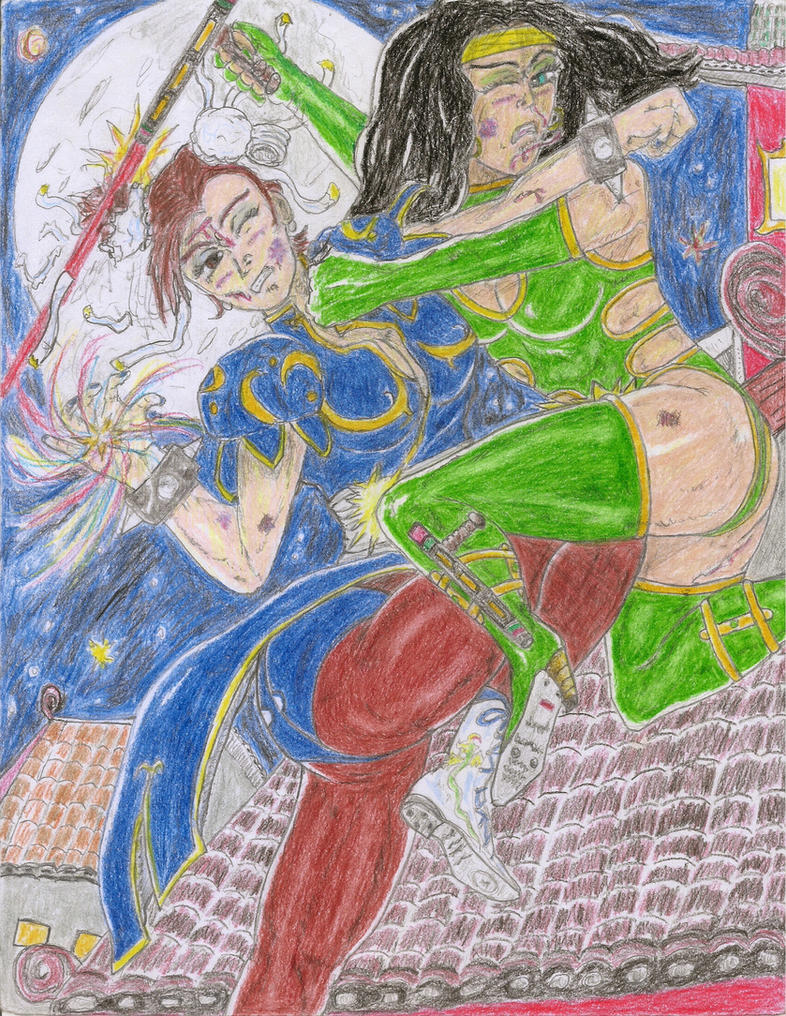 (First Confrontations)Barbara Orchid vs. Chun-Li by Narked