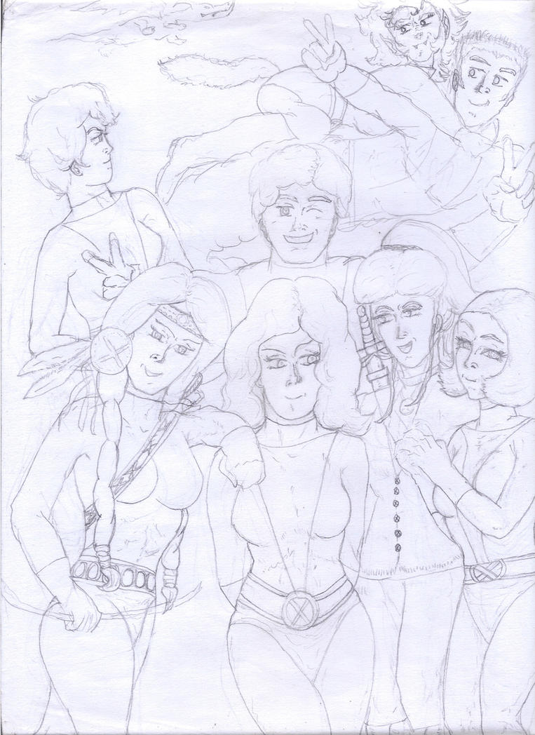 The Original New Mutants (1983) wip. by Narked