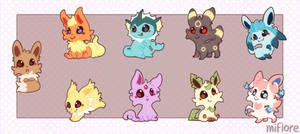 Cuteeveelutions by miflore