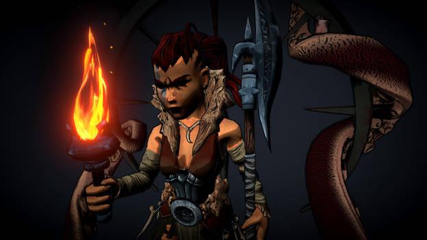 Cel Shaded Hellion from Darkest Dungeon