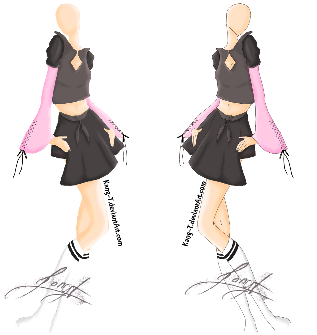 Women S Clothing Drawing By Kang T On Deviantart