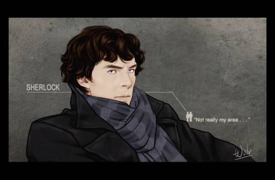 Sherlock pouts