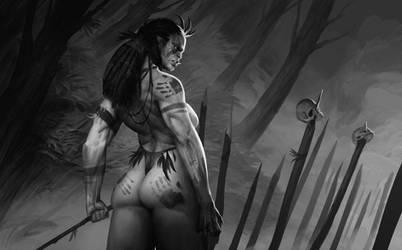 Orc Tribeswoman by MathiasOsland