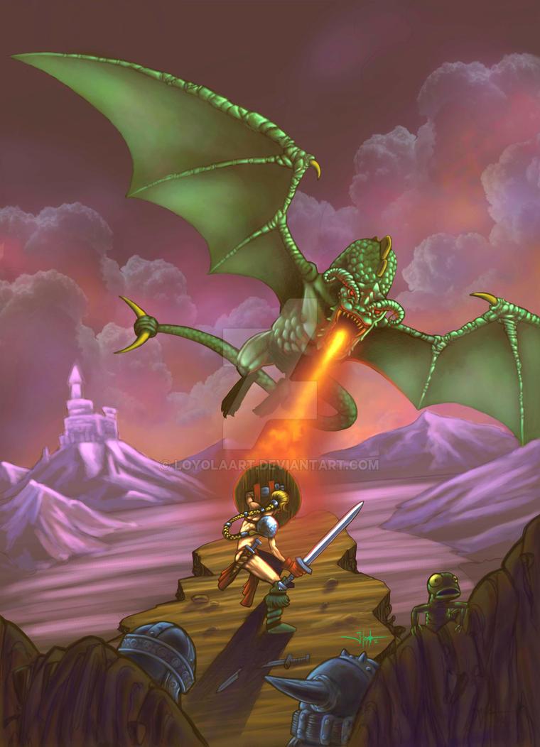 La chica y el dragon2 by LoyolaArt