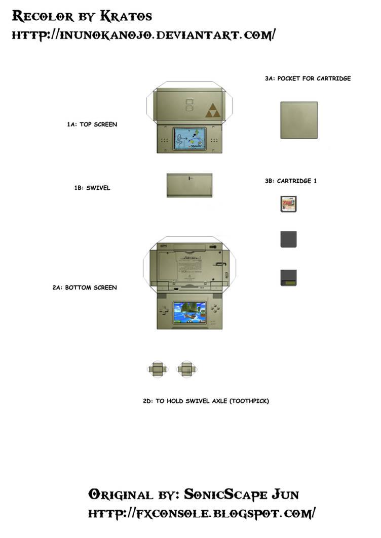 mini zelda papercraft ds by timefox44 on DeviantArt
