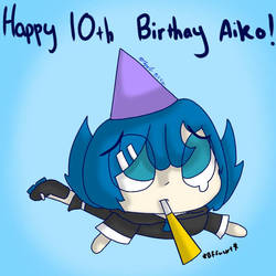 Happy late 10th birthday Kikyuune Aiko! by Sapphirethedragon2