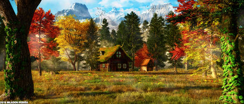 Secluded Cabin by Mladjo00