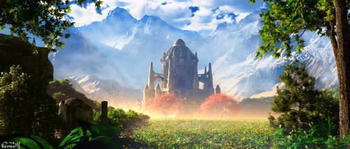 Mountain Temple by Mladjo00