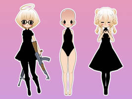 [Kisekae Export] Female Chibi Base by TabbyHoney