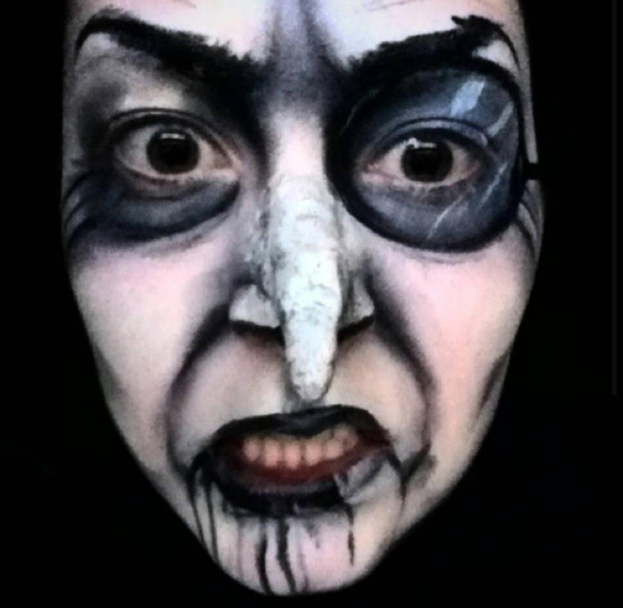 Penguin face makeup