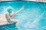 Swimsuit Miku Cosplay