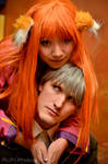Spice and Wolf, Holo and Lawrence Closeup