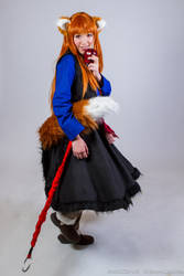 Dance with the Wolf, Holo Cosplay by firecloak