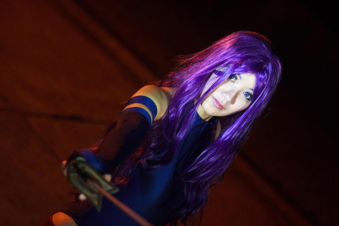 Psylocke Closeup by firecloak