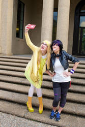 Honey Lemon and GoGo Tomago Selfie by firecloak