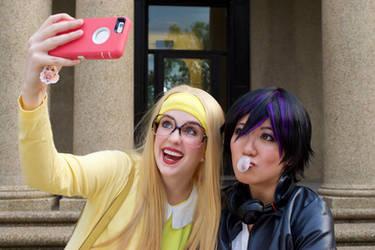 GoGo and Honey Lemon: One More Selfie by firecloak
