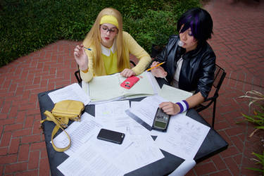 Gogo Tomago and Honey Lemon Studying by firecloak