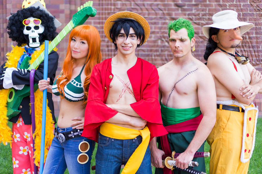 One Piece Nami Luffy Usopp Brook Cosplay Time Skip by ...