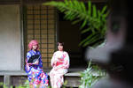 Kofuku and Hiyori Yukata Cosplay