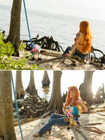 Nami Relaxes with Chopper, One Piece Cosplay