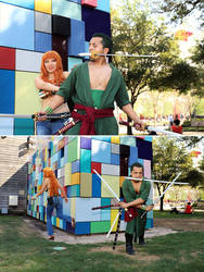 Zoro, I leave it to you [Nami] One Piece Cosplay by firecloak
