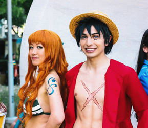 Nami and Luffy One Piece Cosplay by firecloak