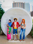 Luffy, Nami, Robin One Piece Cosplay