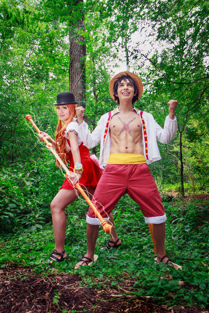 Nami and Luffy Whole Cake Island One Piece Cosplay by firecloak
