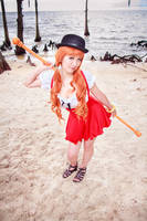 Nami Whole Cake Island Maid Cosplay, One Piece by firecloak