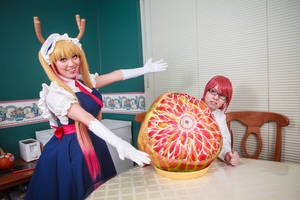 TADA-Tohru Feeds Kobayashi Dragon Tail Cosplay by firecloak