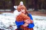 Holo Cuddles her Tail [Spice and Wolf Cosplay]