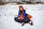 Holo and Basket of Apples, Spice and Wolf Cosplay